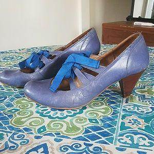Topshop Shoes - Adorable topshop blue block heels